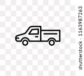 pick up vector icon isolated on ... | Shutterstock .eps vector #1163987263