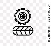 tire vector icon isolated on... | Shutterstock .eps vector #1163987329