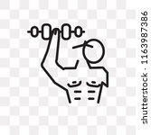 dumbbell vector icon isolated... | Shutterstock .eps vector #1163987386