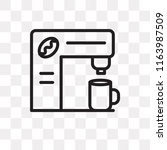 coffee maker vector icon... | Shutterstock .eps vector #1163987509