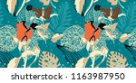 original trendy seamless... | Shutterstock .eps vector #1163987950