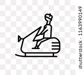 snowmobile vector icon isolated ... | Shutterstock .eps vector #1163990149