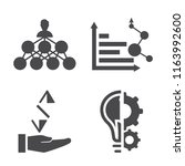set of 4 vector icons such as... | Shutterstock .eps vector #1163992600