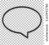 speech bubble icon isolated on...