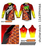 long sleeve motocross jerseys t ... | Shutterstock .eps vector #1163994466