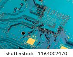 electronic circuit board close... | Shutterstock . vector #1164002470