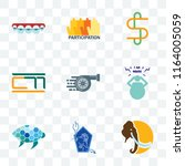 set of 9 transparent icons such ... | Shutterstock .eps vector #1164005059