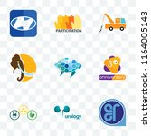 set of 9 transparent icons such ... | Shutterstock .eps vector #1164005143