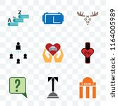 set of 9 transparent icons such ... | Shutterstock .eps vector #1164005989