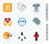 set of 9 transparent icons such ... | Shutterstock .eps vector #1164006010