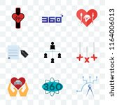 set of 9 transparent icons such ... | Shutterstock .eps vector #1164006013