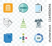 set of 9 transparent icons such ... | Shutterstock .eps vector #1164006046
