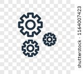 settings vector icon isolated... | Shutterstock .eps vector #1164007423