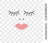 eyelash vector icon isolated on ... | Shutterstock .eps vector #1164008029