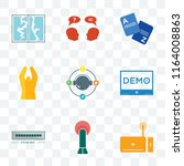 set of 9 transparent icons such ... | Shutterstock .eps vector #1164008863