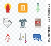 set of 9 transparent icons such ... | Shutterstock .eps vector #1164008923