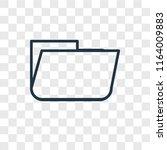 folder vector icon isolated on... | Shutterstock .eps vector #1164009883