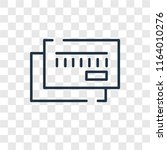 cit card vector icon isolated... | Shutterstock .eps vector #1164010276