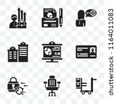 set of 9 transparent icons such ... | Shutterstock .eps vector #1164011083