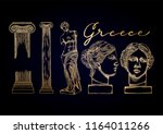 collection of ancient ionic... | Shutterstock .eps vector #1164011266