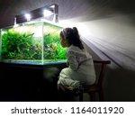 Girl Admiring Aquarium In His...