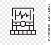 electrocardiogram vector icon... | Shutterstock .eps vector #1164013519