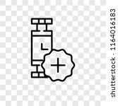 smartwatch vector icon isolated ... | Shutterstock .eps vector #1164016183