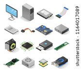 Computer Parts Isometric Set....