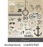 vector set   travel... | Shutterstock .eps vector #116401960