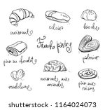 french pastry. traditional...   Shutterstock .eps vector #1164024073