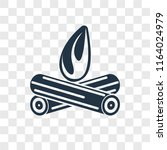 bonfire vector icon isolated on ... | Shutterstock .eps vector #1164024979