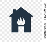 fire in the house vector icon... | Shutterstock .eps vector #1164025960