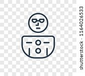 geek vector icon isolated on... | Shutterstock .eps vector #1164026533