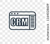 crm vector icon isolated on... | Shutterstock .eps vector #1164028609