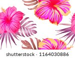 pink red exotic pattern.... | Shutterstock .eps vector #1164030886