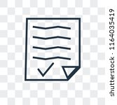 agenda vector icon isolated on... | Shutterstock .eps vector #1164035419