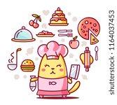 flat line art style design of... | Shutterstock .eps vector #1164037453