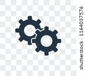 settings vector icon isolated... | Shutterstock .eps vector #1164037576