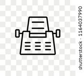 typewriter vector icon isolated ... | Shutterstock .eps vector #1164037990