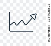 stats vector icon isolated on... | Shutterstock .eps vector #1164038623