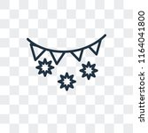 tinsel vector icon isolated on... | Shutterstock .eps vector #1164041800