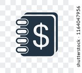 agenda vector icon isolated on... | Shutterstock .eps vector #1164047956