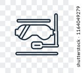 snorkel vector icon isolated on ... | Shutterstock .eps vector #1164049279