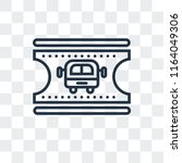 bus ticket vector icon isolated ... | Shutterstock .eps vector #1164049306