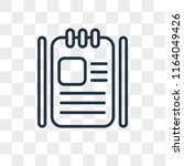 agenda vector icon isolated on... | Shutterstock .eps vector #1164049426