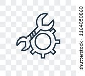 setting vector icon isolated on ... | Shutterstock .eps vector #1164050860