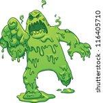 Cartoon Toxic Monster. Vector...