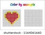 worksheet.  heart   puzzle task ...   Shutterstock .eps vector #1164061660