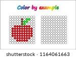worksheet.  apple   puzzle task ... | Shutterstock .eps vector #1164061663