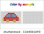 worksheet.  car   puzzle task ...   Shutterstock .eps vector #1164061693